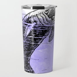 Purple Manatee Travel Mug