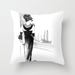 Breakfast at Tiffany's Sketch Throw Pillow