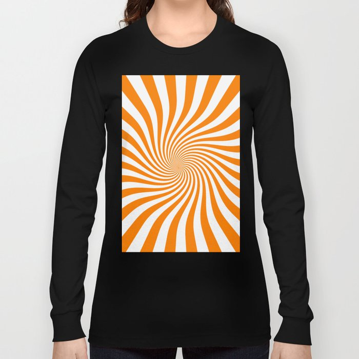 Swirl (Orange/White) Long Sleeve T-shirt