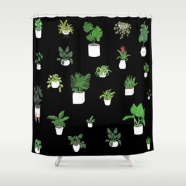 House Plants Shower Curtain