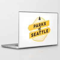 parks and rec Laptop & iPad Skins featuring Parks of Seattle by Parks of Seattle