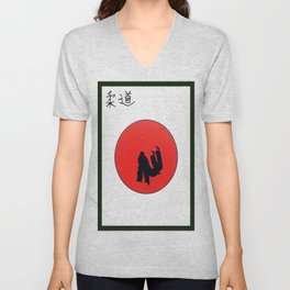 Art Of Judo Print Unisex V-Neck
