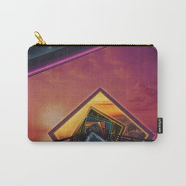 Bridge of a Thousand Colors, a Beautiful Rainbow Fractalscape Carry-All Pouch