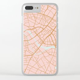 Berlin map Clear iPhone Case