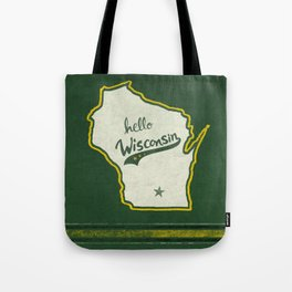 Hello Wisconsin Tote Bag