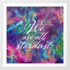 We Are All Stardust Watercolor Sacred Geometry Art Print