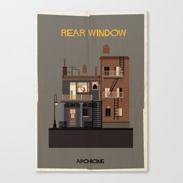 Rear Window   Directed by Alfred Hitchcock Canvas Print