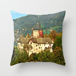 Chateau de Blonay Throw Pillow