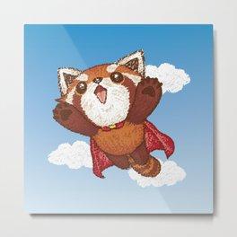 Red panda superhero Metal Print