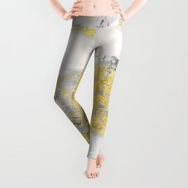 Silver and Gold Marble Design Leggings