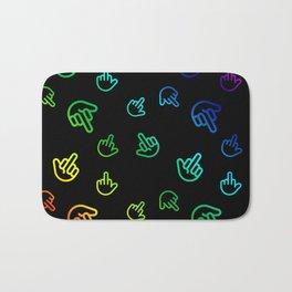 Colourful Minimal Fingers Bath Mat