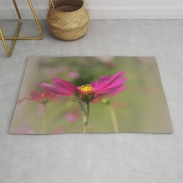 Cosmos Commuter - Flower Photography Rug