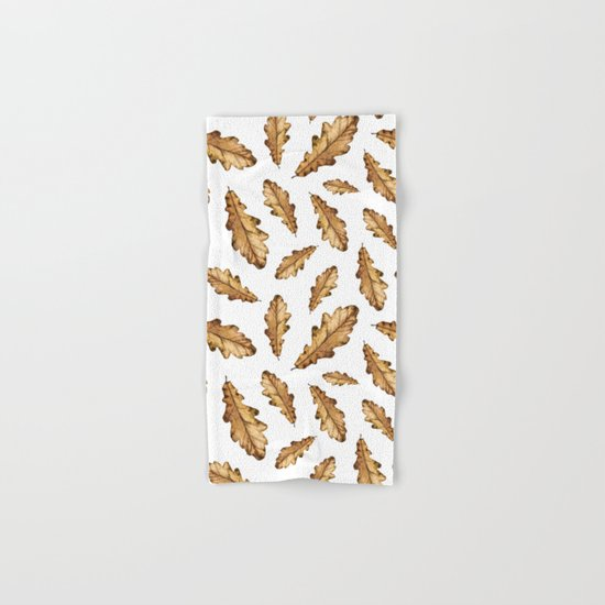 Autumn Leaves Pattern 01 Hand & Bath Towel