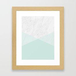 Geometric Marble I Framed Art Print