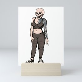 smoking skull 006 Mini Art Print
