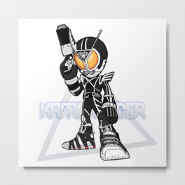 When Kamen Rider puts on uptempo Metal Print