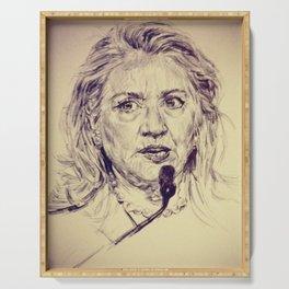 Hillary Clinton Serving Tray