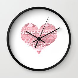 Patterned Valentine Wall Clock