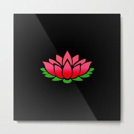 Red Lotus Metal Print