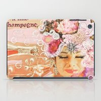 champagne iPad Cases featuring Pink Champagne  by Jenndalyn