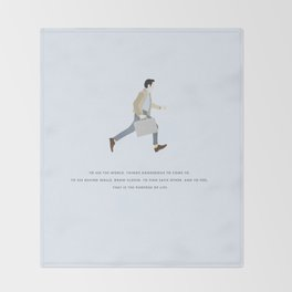 Walter Mitty, Ben Stiller, Major Tom, Print Throw Blanket
