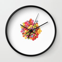 pile of smartys Wall Clock