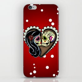 Ashes - Day of the Dead Couple - Kissing Sugar Skull Lovers iPhone Skin