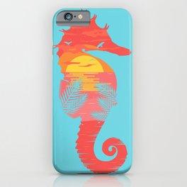 Sea Horse Sunset iPhone Case