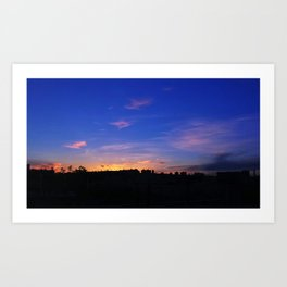 Sunset over Yonder Art Print