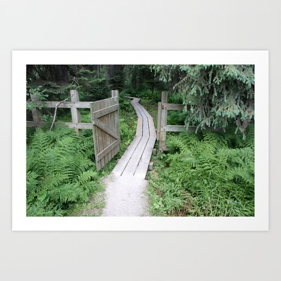 little gate to the big forest Art Print