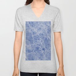 Juliette blue marble Unisex V-Neck