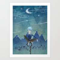 jack frost Art Prints featuring Jack Frost by Serena Rocca