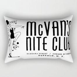 McVan's Nite Club Black Rectangular Pillow
