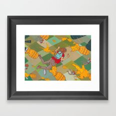 Juicy Plunge Framed Art Print