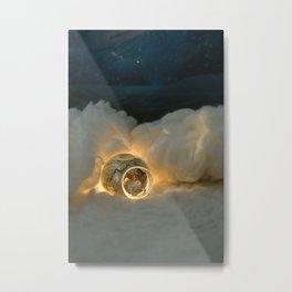 The Polar Bear & The Golden Cave Metal Print