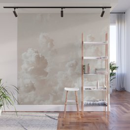 Light Academia Aesthetic white clouds Wall Mural