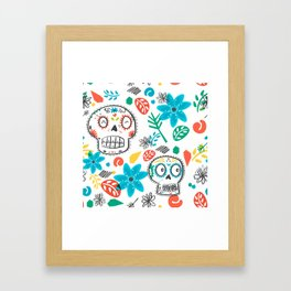 Summer sugar skulls Framed Art Print