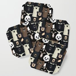 Bears of the world pattern Coaster