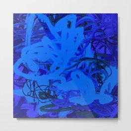 Blue & Navy Abstract Metal Print