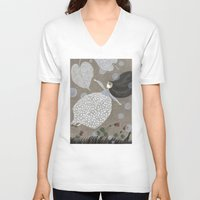 sia V-neck T-shirts featuring Summer's End by Judith Clay