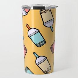 Bubble Tea Pattern Travel Mug
