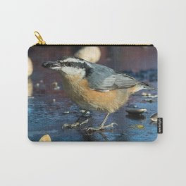 December Nuthatch Carry-All Pouch