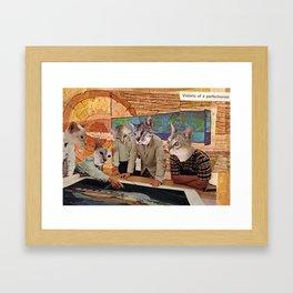 Cats Discuss a Project Framed Art Print