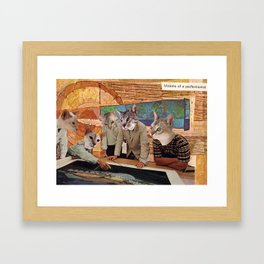 Cats Discuss a Project Framed Art Print