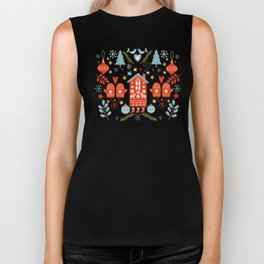 Laplander Winter Holiday Biker Tank