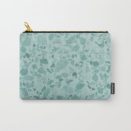 Teal Terrazzo Carry-All Pouch