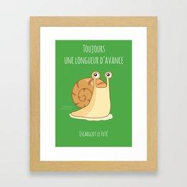 Smart Snail Framed Art Print