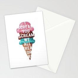 I Scream, You Scream Stationery Cards