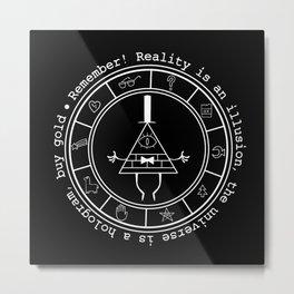 Bill Cipher - Dark Metal Print