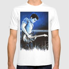 John Mayer Blues White Mens Fitted Tee MEDIUM